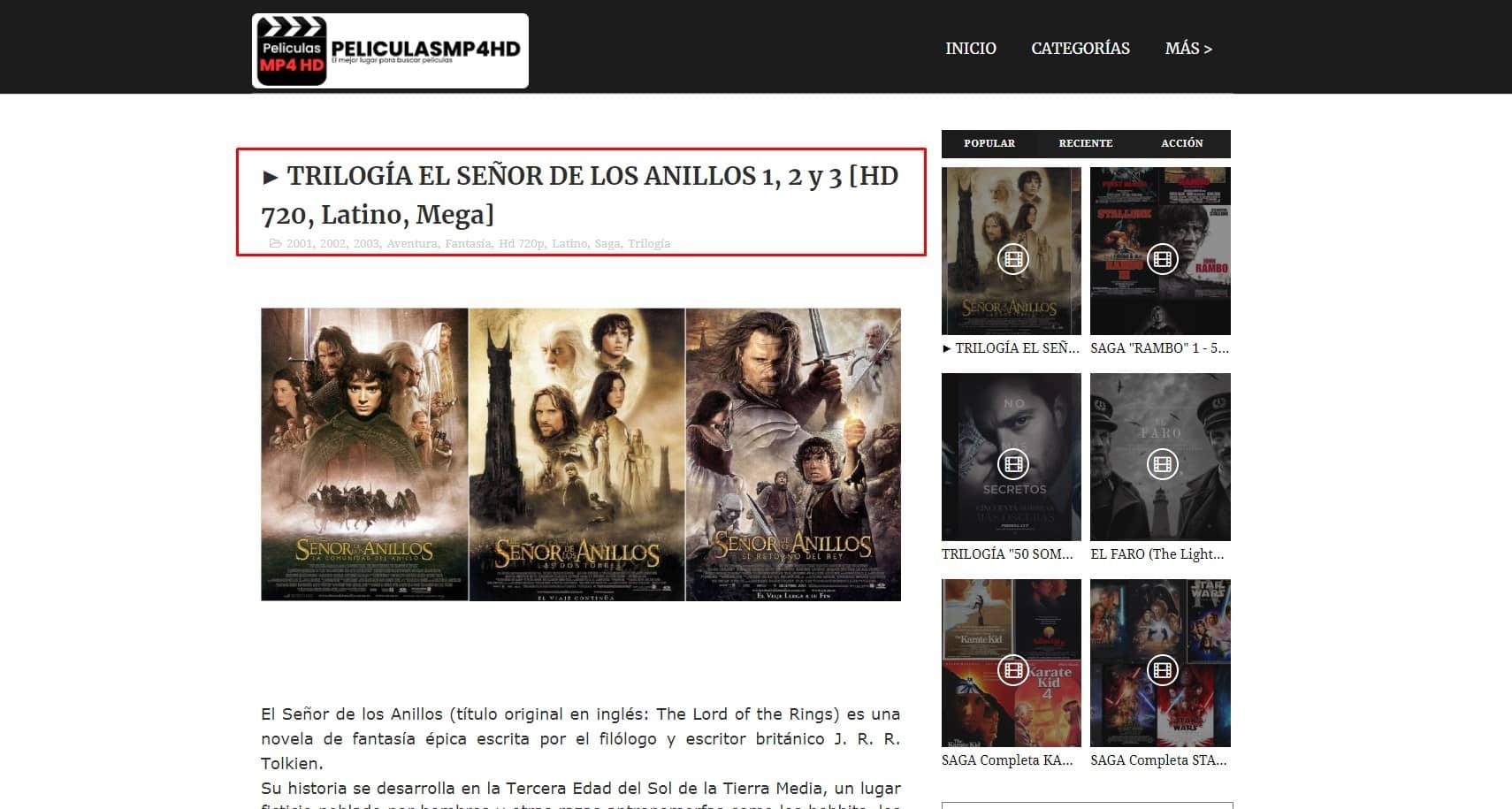 peliculas gratis completas en español latino